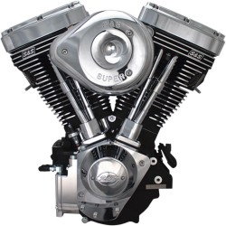 ENGINE V124BLK/CHR G CARB
