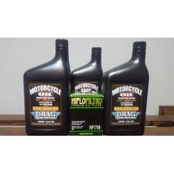 Pack Aceite motor y filtro de aceite para Harley Davidson