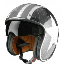 Casco Jet Origine Diseño Sprint Rebel Star Grey