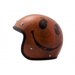 Casco Integral Handmade Vintage Smile Orange