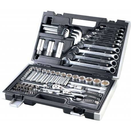 Maletín de herramientas Rothewald en pulgadas 92 piezas