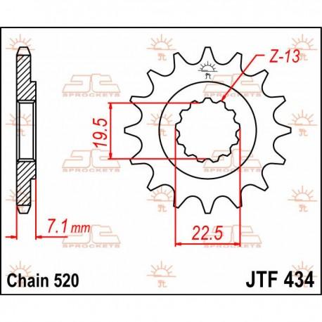 Piñón delantero 14 dientes JT Sprockets