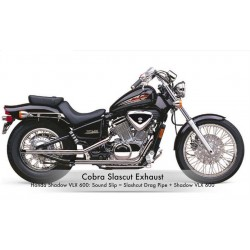 Escapes COBRA Slash-Cut Drag Pipes Honda Shadow VT600C