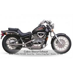 Escapes COBRA Slash-Cut Drag Pipes Honda Shadow VT600C