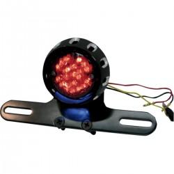 Custom Bobber LED Piloto Trasero y Placa de Licencia Montaje Negro (3-EN-1