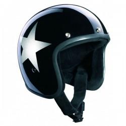 Casco Bandit Jet Star Negro