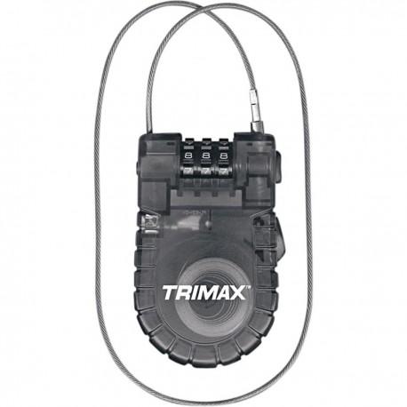Candado Trimax Cable-Lock Combinación Retráctil
