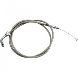 """Cable de Acelerador (Retroceso) Acero Inoxidable Honda VTX1300 03-09 +6"""""""